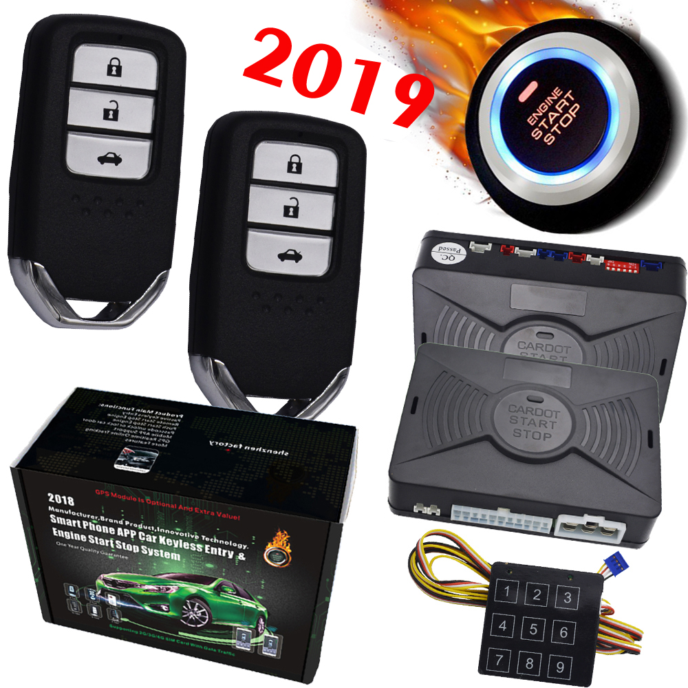 Auto Car Alarm remote Engine start stop Push Button Start Stop passive keyless entry password emergency lock and unlock auto smart car alarm hopping code car security system auto lock or unlock passive keyless entry push button start stop car