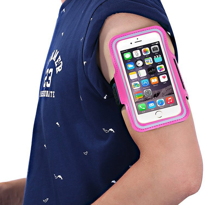 Outdoor Arm Pack Fashion Riding Waterproof Wrist Polyester Transparent Finger Bag Touch Screen Phone Bag Mobile Phone Armband