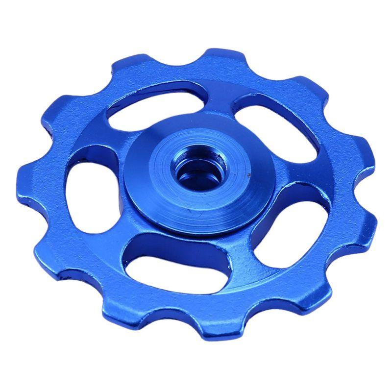 Купить с кэшбэком 2pcs 11T Ultralight MTB Aluminum Alloy  Bike Bearing Jockey Wheel Rear Derailleur Pulleys Outdoor Bicycle Parts New