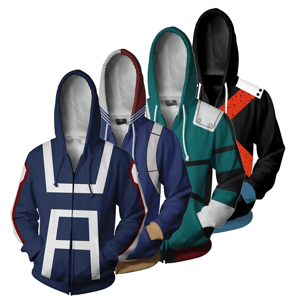 My Hero Academia Boku no Hero Academia Sweatshirts Plus Size uniform Men Women Hoodies Cosplay costume College Zipper Jacket