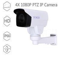 YUNCH Hot Selling HD 1080P IP Camera 4X Motorized Auto Zoom H 264 IR 60M Night