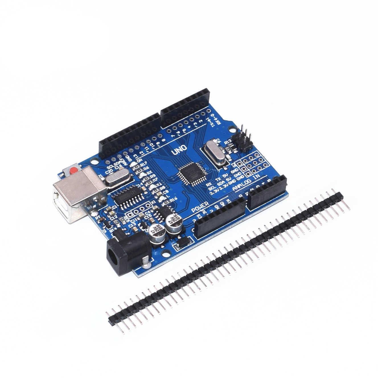 1 pièce bleu/rouge/noir 2.4 TFT module UNO R3 carte de développement avec CH340 ATMEGA328 câble USB pour Arduino