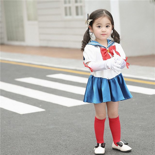 c4bd58cb29fd Aliexpress.com   Buy New Design Girl Kids Clothing Set Sailor Moon ...