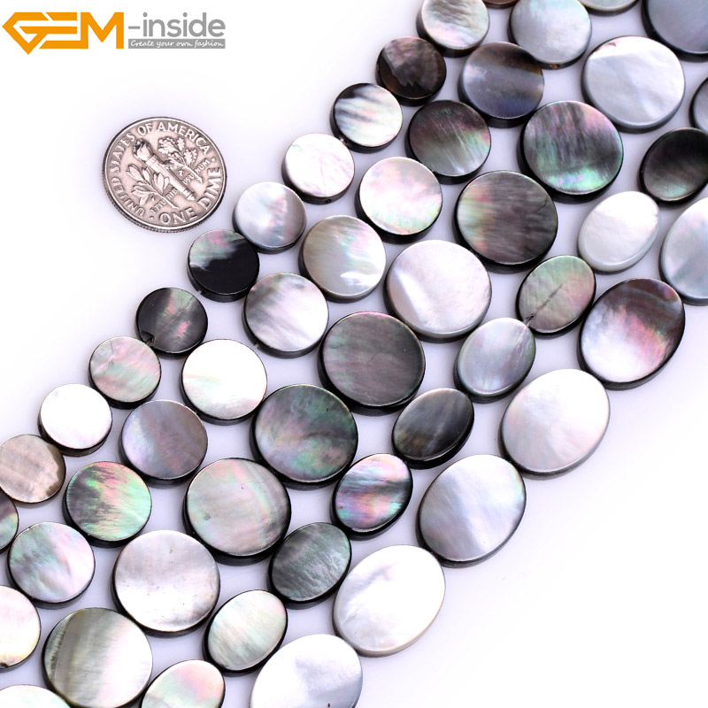 Natural Round Black Lip Shell Beads For Jewelry Making 10-14mm 15inches DIY Jewellery FreeShipping Wholesale Gem-inside