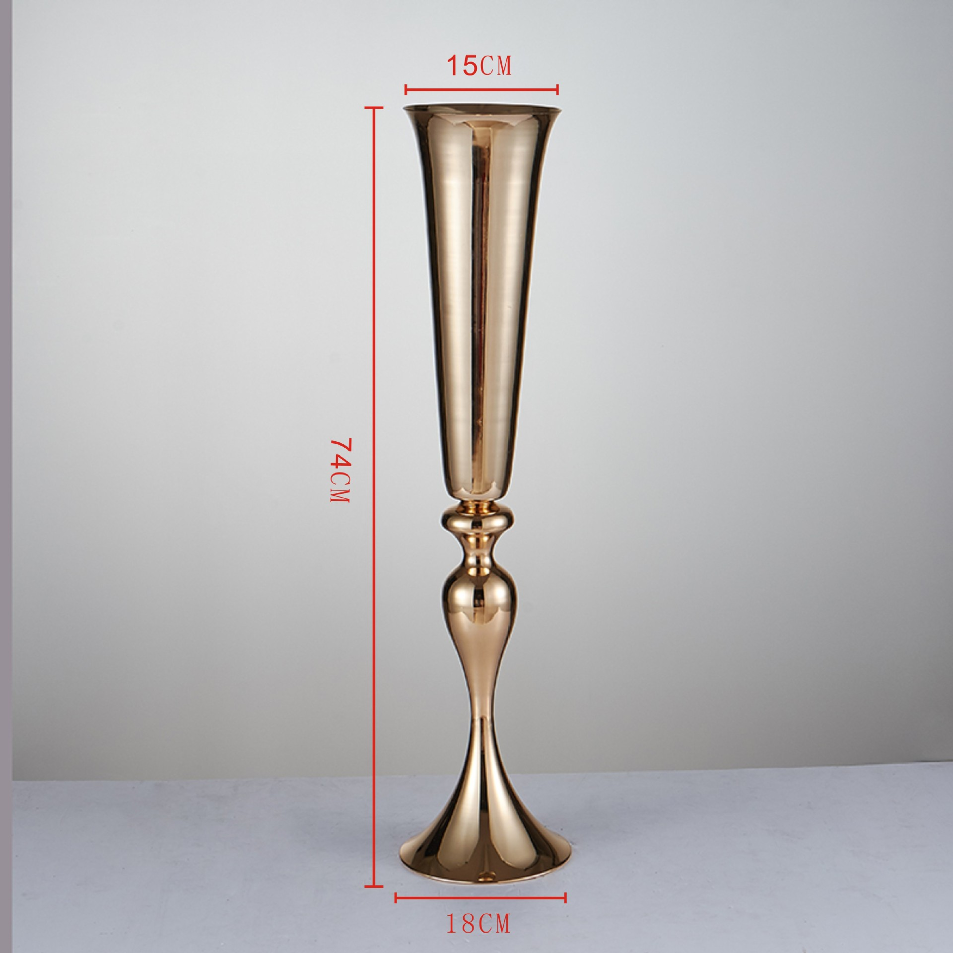 Wholesale 10 pieces 28 inch 35inch gold mermaid trumpet wedding wholesale 10 pieces 28 inch 35inch gold mermaid trumpet wedding centerpiece table vase for long stem flower holder in vases from home garden on reviewsmspy