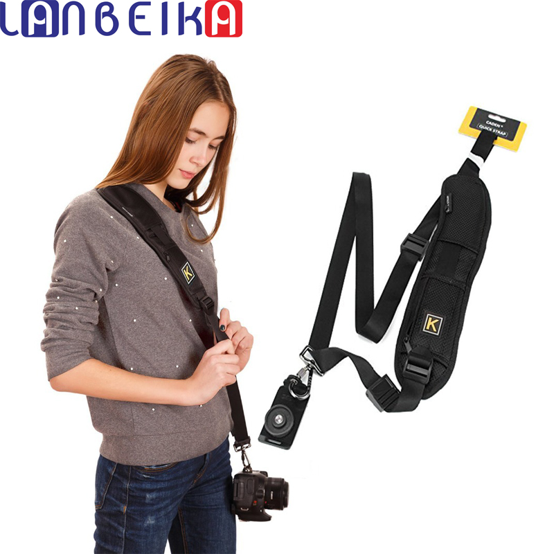 LANBEIKA K Type Single Shoulder Sling Belt Strap + Pad for Canon for Nikon for Sony for Pentax DSLR SLR Camera Quick Rapid