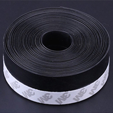 Self-adhesive Weatherstrip Silicone Rubber Door Seal Strip Window Sealing Strip Draft Stopper  25mm / 35mm / 45mm x 5m Black