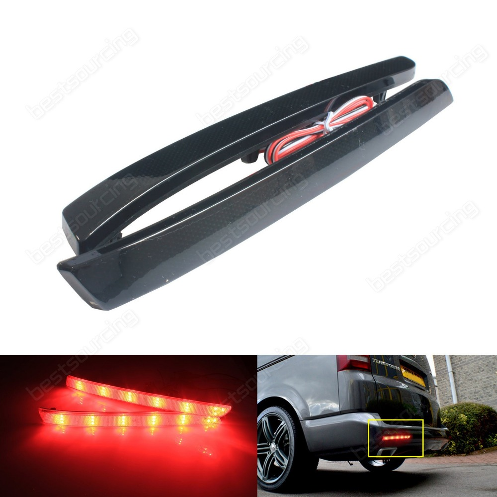 купить For VW Transporter T5 Multivan Caravelle Rear Bumper Reflector LED Tail Brake Light (Fits: VW 2012)(CA331) дешево