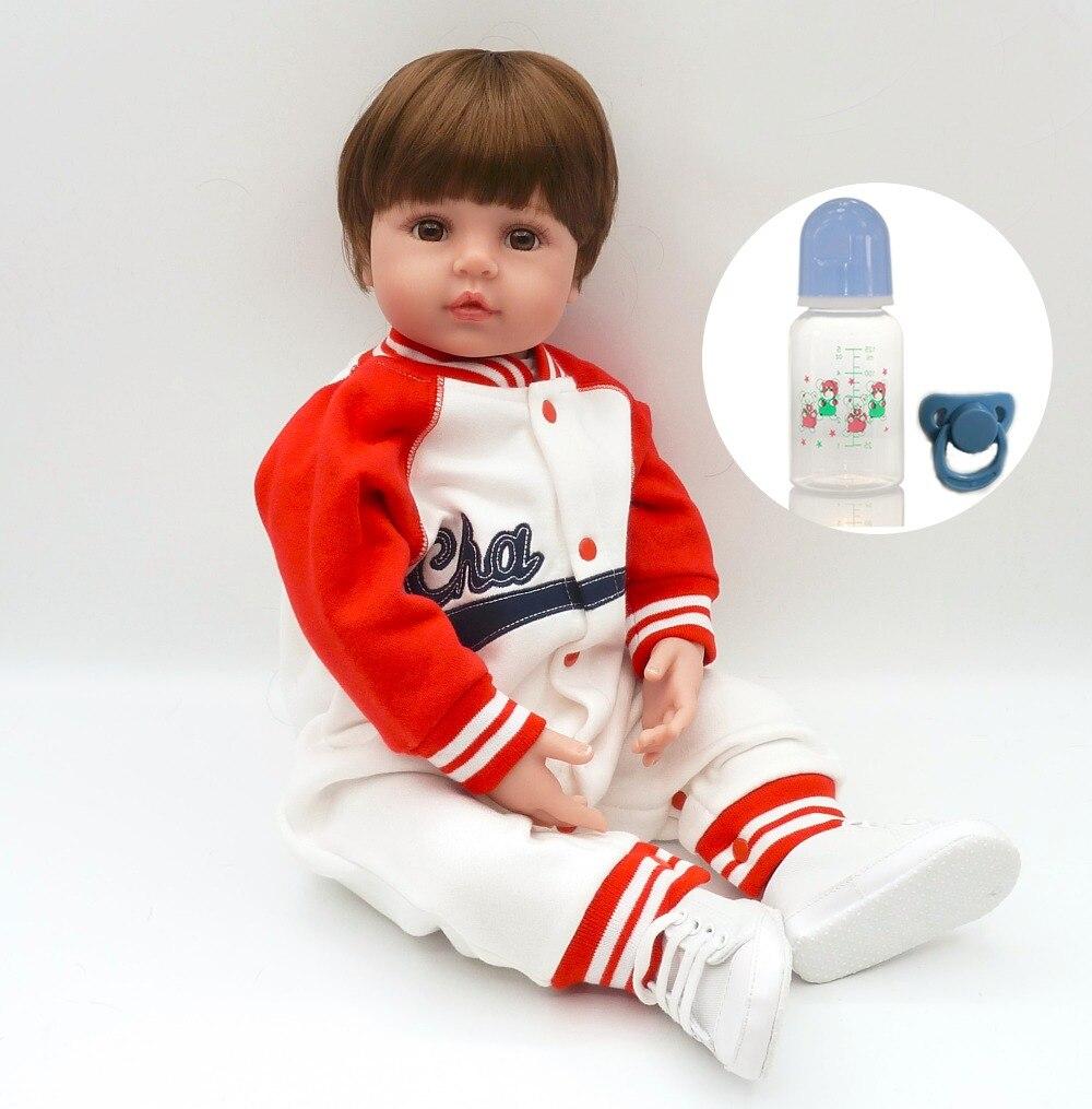 55cm Boy Doll Reborn Boneca Reborn Silicone Completa For Baby Alive Children's Toys