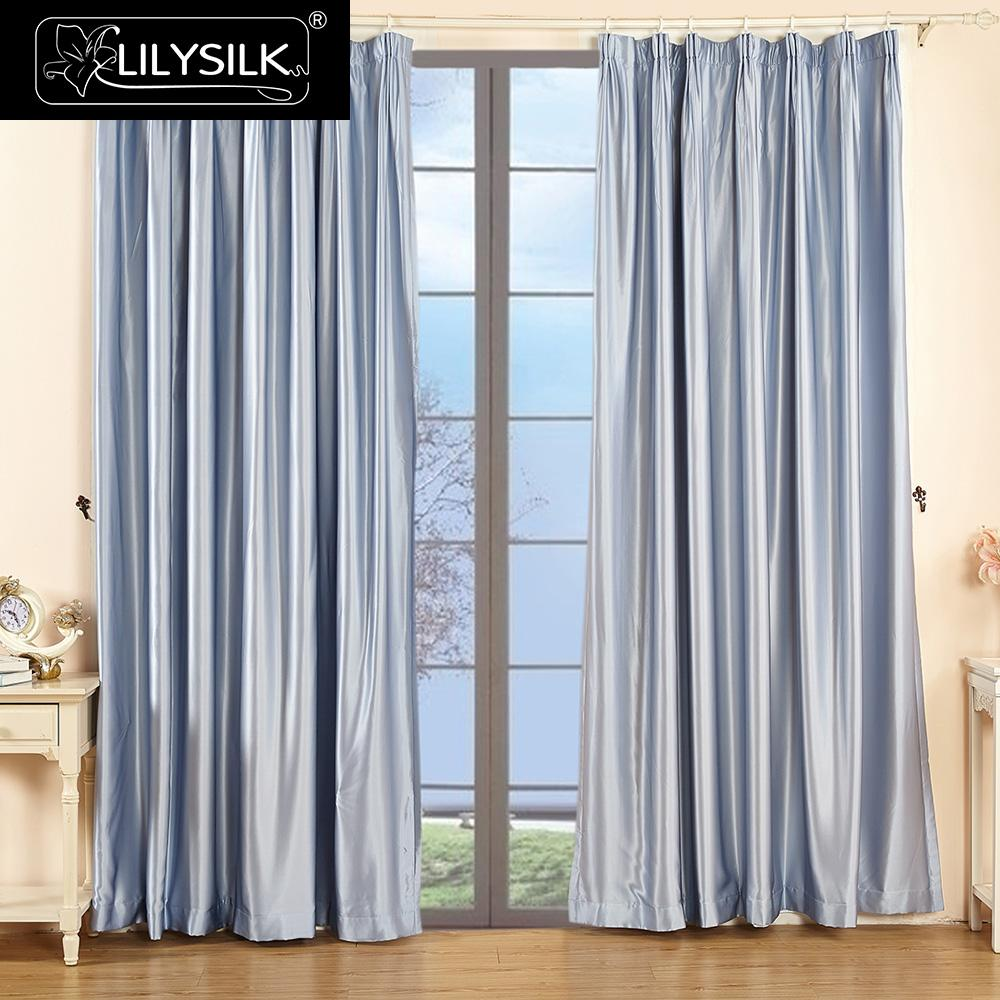 lilysilk silk curtain 19 momme new classical living room windows silk drape pinch pleat header free