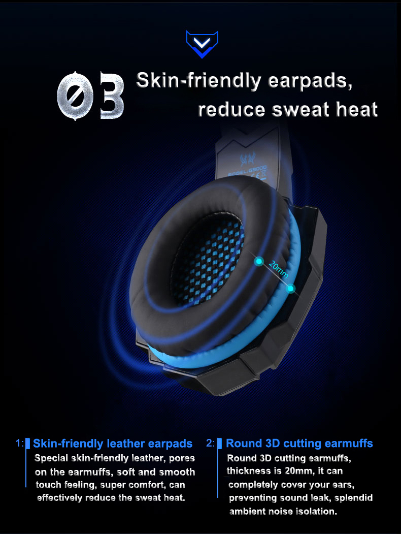 USB 7.1 Surround Sound Version Game Gaming Headphone 4