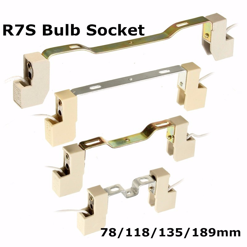 4A 78/118/135/189 Mm R7S Lamp Base Socket Lamp Holder Conveter Connector Metal Handle For Flood Light Bulb
