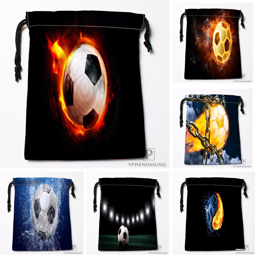 Custom Soccer Ball Drawstring Bags Travel Storage Mini Pouch Swim Hiking Toy Bag Size 18x22cm#0412-03-36