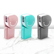 Filterhualv Palm portable air conditioner Charging Handheld Mini Fan Smiley Face Portable air cooler for home desk car