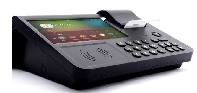 NFC MSR PSAM QR code-barres caméra lecteur d'empreintes digitales IC lecteur de carte de crédit Andorid terminal tablette pc