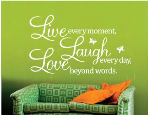 Hot Sale FoodyMine Live Laugh Love Wall Vinyl Art Mural Quote Decorative Decal Words Butterflies Y-283