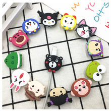 100pcs Cartoon Cable Protector Data Line Cord Protective Case Winder Cover USB Charging for iPhone Samsung