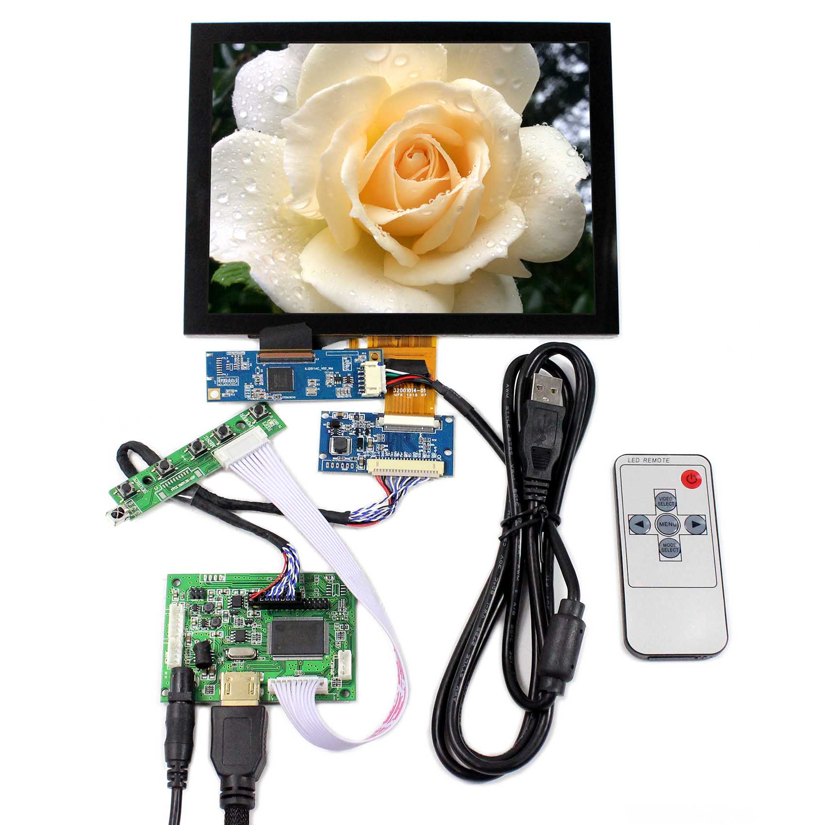 8inch LCD Display 1024x768 Resolution HDMI LCD Controller Board Capacitive Touch Panel цена 2017