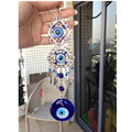 Turkish Evil Eye Glass Charm Metal Wall Hanging Amulet Nazar Boncuk Home Decoration Office Protector Arabic Islamc Nazar