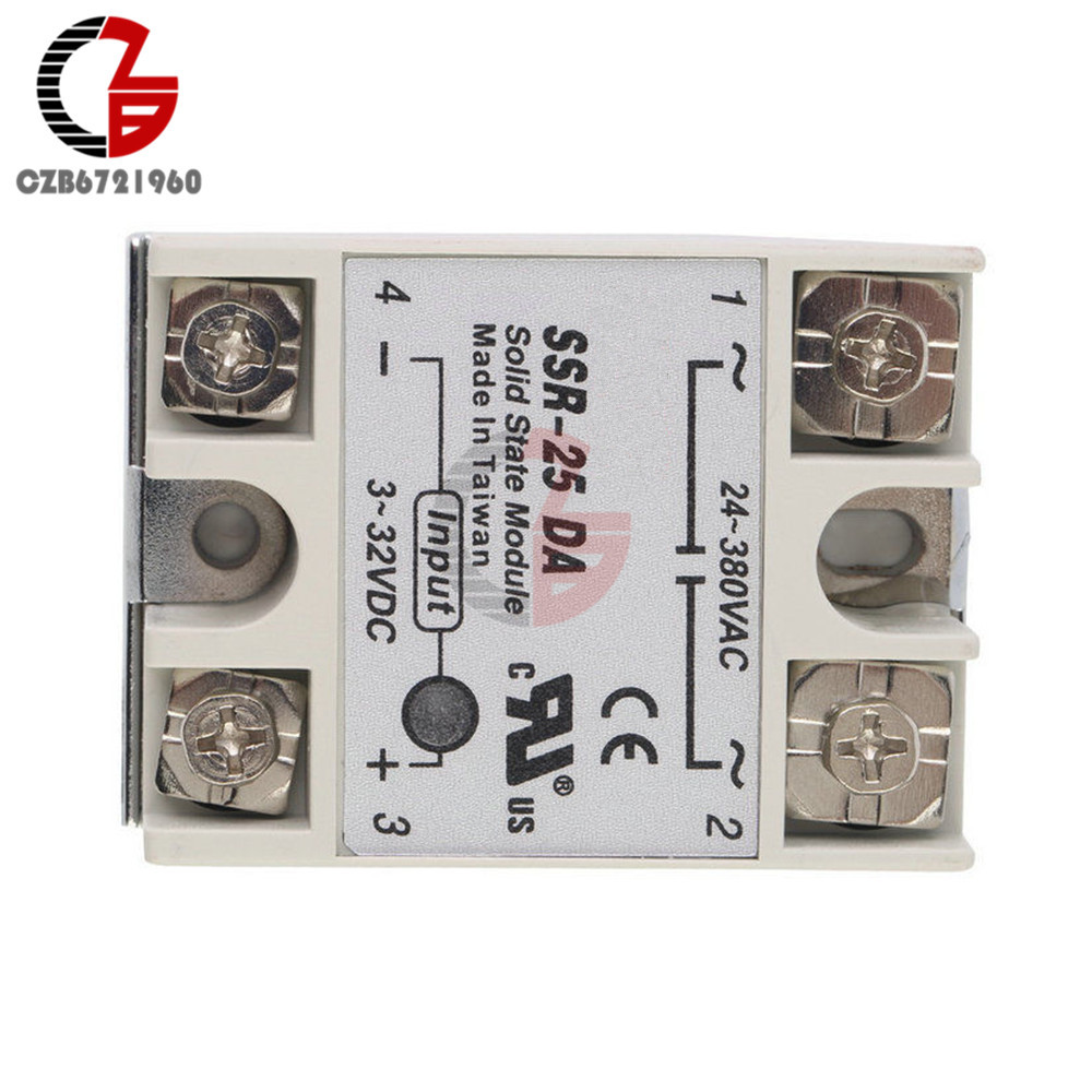 Dc Ac Solid State Relay Module Ssr 25da 25a 3 32v To 24 380v There Are Relays And Switch Holiday Presents