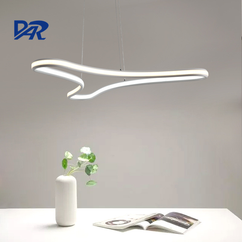 Free Shipping Acrylic+Aluminum Pendant Lights Dining Room Kitchen Modern Led Pendant Lamp Suspension Luminaire Lustre Hanglamp free shipping modern dining table designs discount lamp shades