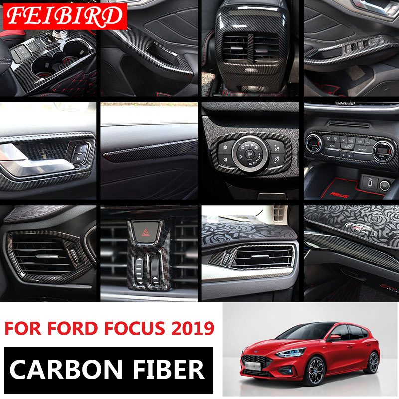 ABS Matte Inner Door Window Lift Buttons Cover Trim 4pcs For Ford Focus MK4 2019