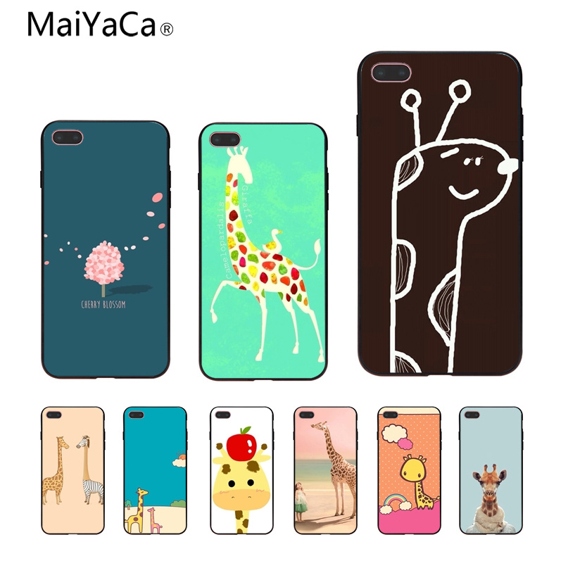 MaiYaCa griaffe New Personalized print Phone Accessories Case For iphone 8 8plus 7 7plus 6 6plus 5 5s 5c SE Mobile cover