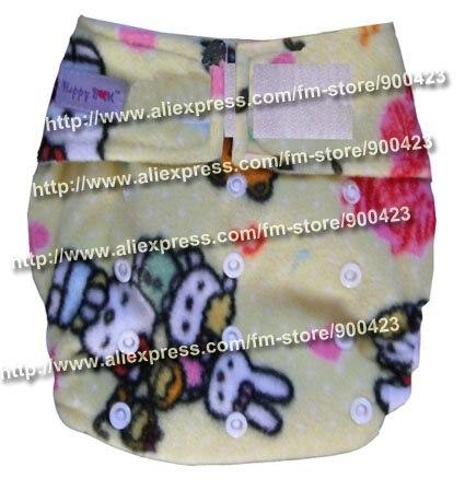 Моющиеся детские подгузники 10 шт. тканевые подгузники+ 10 шт. вставки подходят 4-17 кг - Цвет: hello kitty