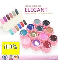 12 Colors LED UV Gel Builder Cover Pure Soak Off Natural UV Nail Art Tips Elegant Series 125-136 CANNI