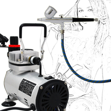 Precision Airbrush Model AB 130 airbrushing system with TC 20B Air Compressure For Temporary Tattoo Body