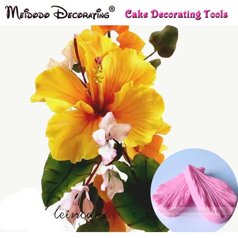 Hibiscus petală floare Veiner Mold tort decorare instrumente, - Bucătărie, sală de mese și bar