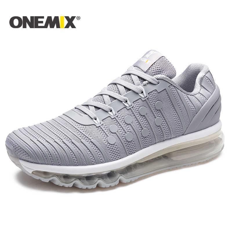 ONEMIX รองเท้าวิ่งชายรองเท้า 2018 ใหม่ Air Cushion รองเท้าวิ่งชาย Breathable Runner บุรุษรองเท้ากีฬารองเท้าผ้าใบสำหรับชาย size39-46