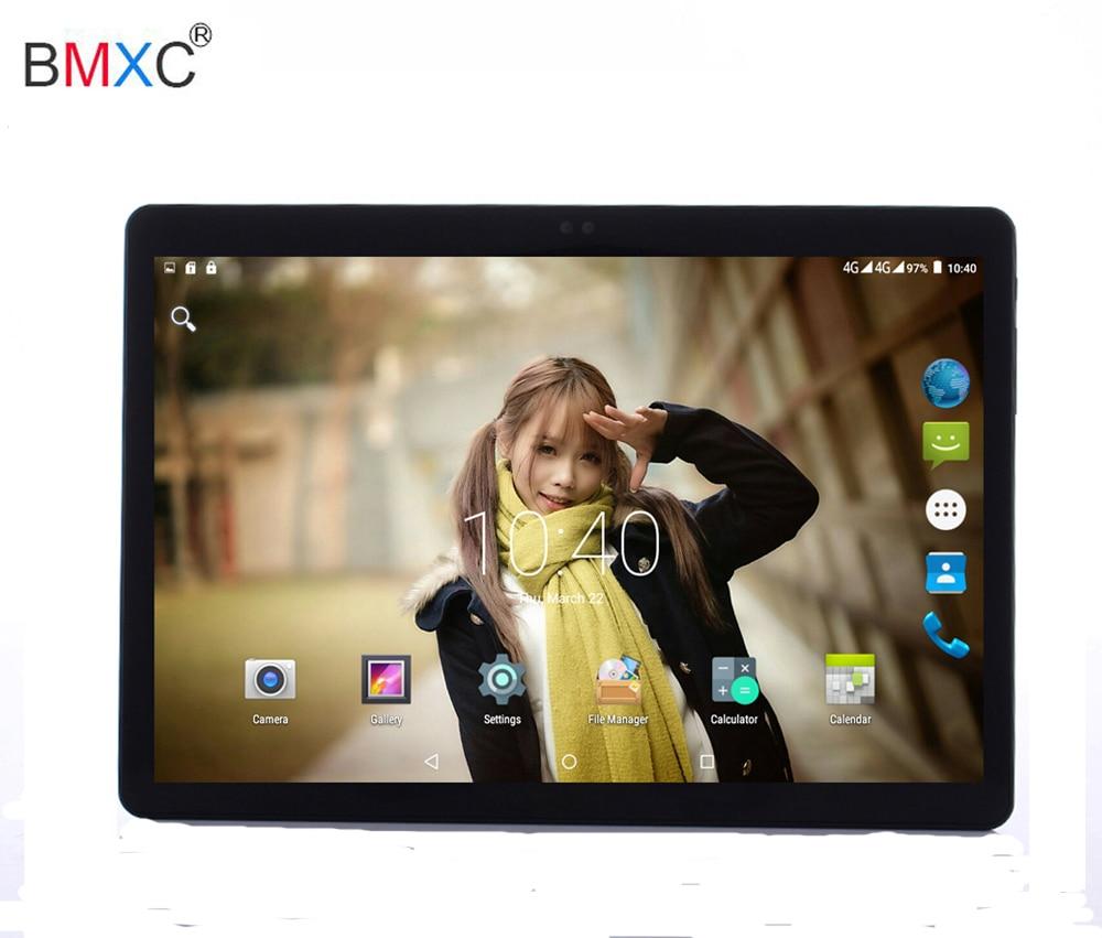 DHL Free BMXC 4G LTE Android 7.0 Tablet PC Tab 10.1 Inch IPS 3g tablet pad 4GB+32GB/64GB Dual SIM Card Phone Call 10.1 Phablet 10 inch android 7 0 tablet pc tab pad 2gb ram 32gb rom quad core play store bluetooth 3g phone call dual sim card 10 phablet