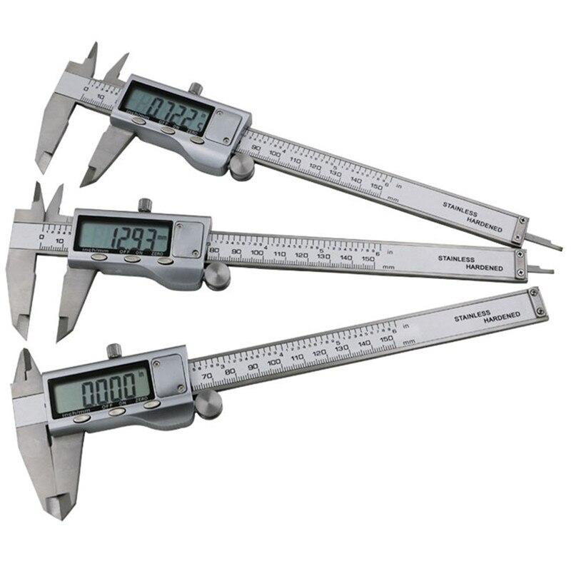 150mm electronic digital vernier caliper metal shtangeltsyrkul stainless steel measuring tool caliper ruler paquimetro D1004  цены
