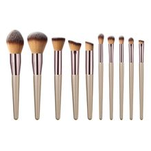 10pcs Kabuki Makeup Brushes Set Foundation Face Powder Blush Eyeshadow Lip Brush цена в Москве и Питере