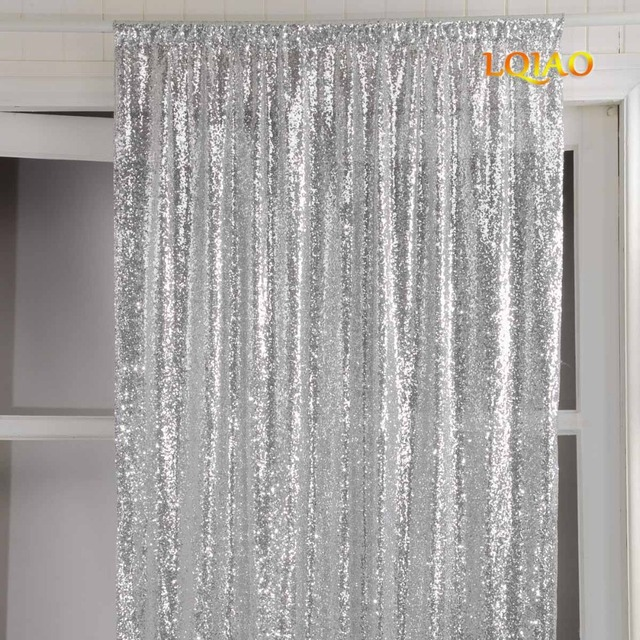 Customize-1pc 120x90cm(WxL) Silver Sequin Curtain for your home decoration