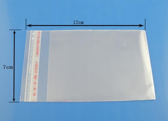 DoreenBeads 200PCs Clear Self Adhesive Seal Plastic Bags 7x12cm (B03359), Yiwu