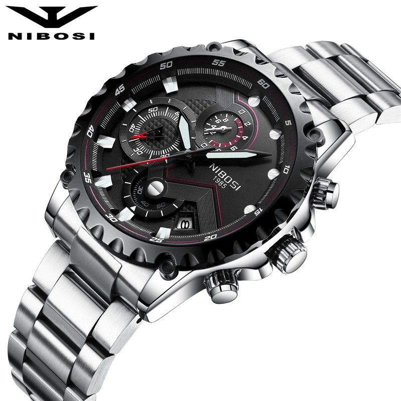 NIBOSI Men Sports Watches Outdoor Fashion Army Watch Military Quartz Wristwatches Water R Hiking Traveling Style weide new men quartz casual watch army military sports watch waterproof back light men watches alarm clock multiple time zone