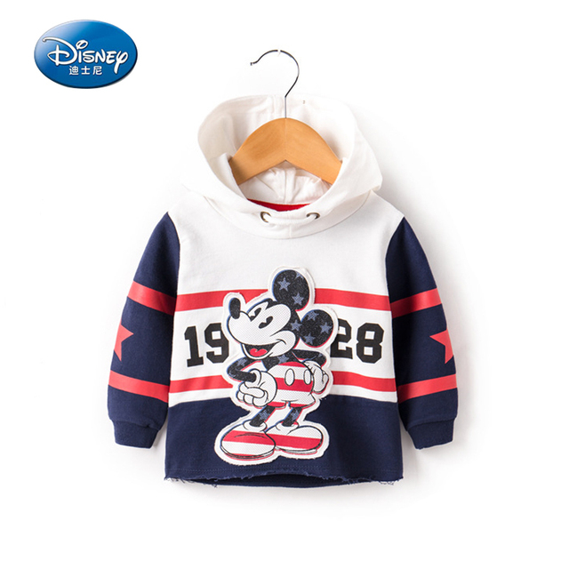 71b0576fc Disney Children's Clothings Hoodies & Sweatshirts Hooded sleeve head Cartoon  Cotton Mickey Mouse style casual Size 80-120