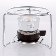 Кофеварка для мокко турецкий cofee горшок Спиртовой Горелки спиртовая плита с круглым каркасом из нержавеющей стали оригинальная плита BS