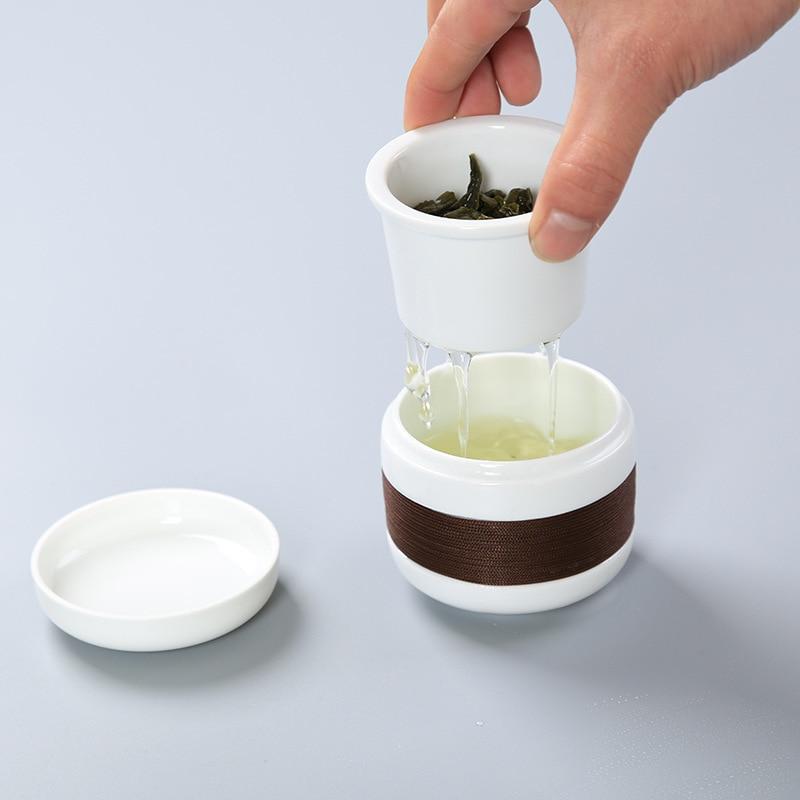 Chinese Kung Fu Tea set gaiwan teapot teacups Filter mug tea sets ceramic puer Drinkware Teaware Sets for travel office
