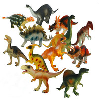 12pcs/set Simulation Dinosaur Model Toys soft Plastic Dinosaur Model Decoration Toys Dinosaurs Baby Kids Toys