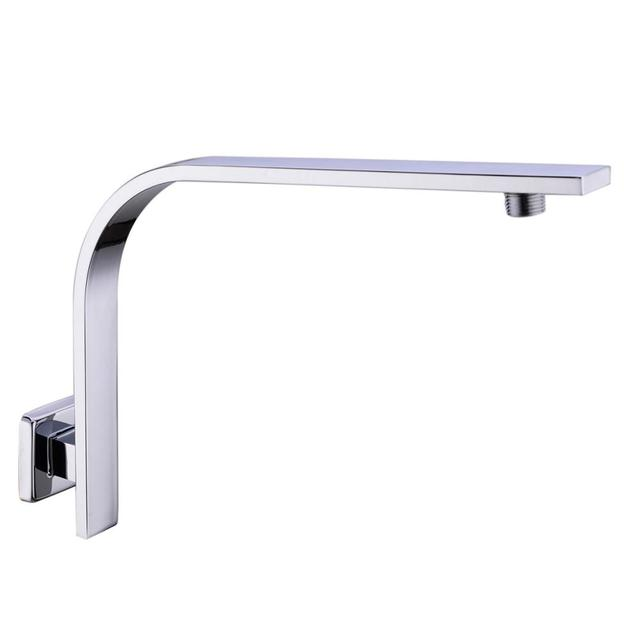 304 Stainless Steel GOOSENECK Square Chrome Rain shower Wall ...