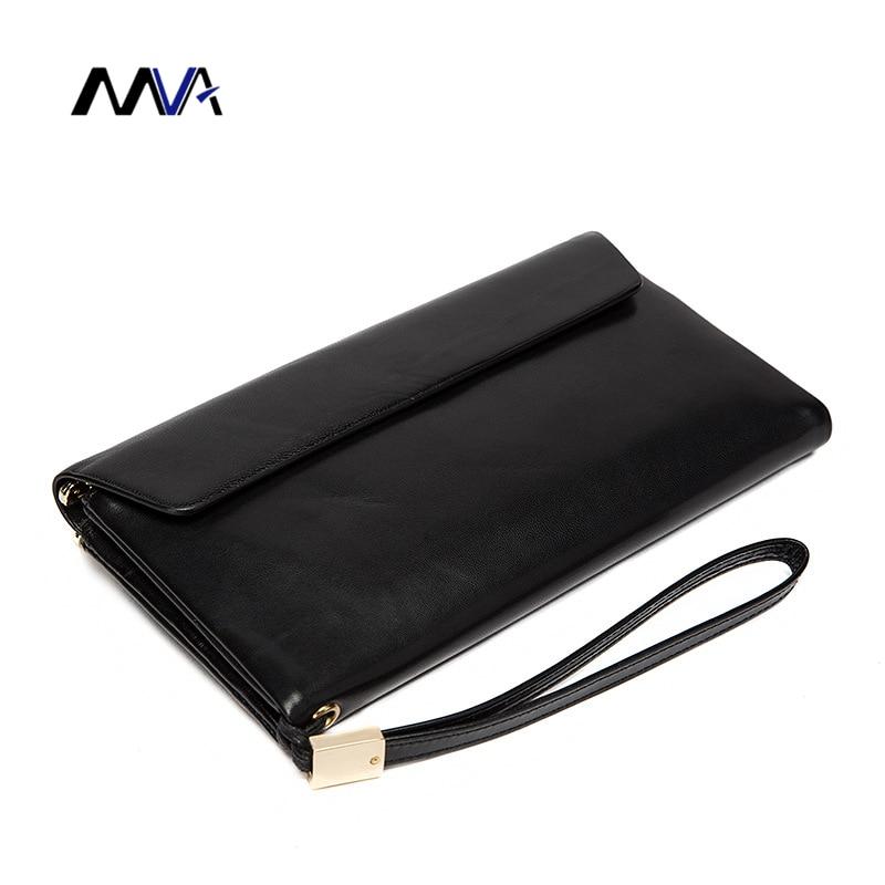 MVA Large Capacity Genuine Leather Man Wallet Card Holder Credit Card Coin Purse Men Wallets Male Clutch Wallet Men Wallets