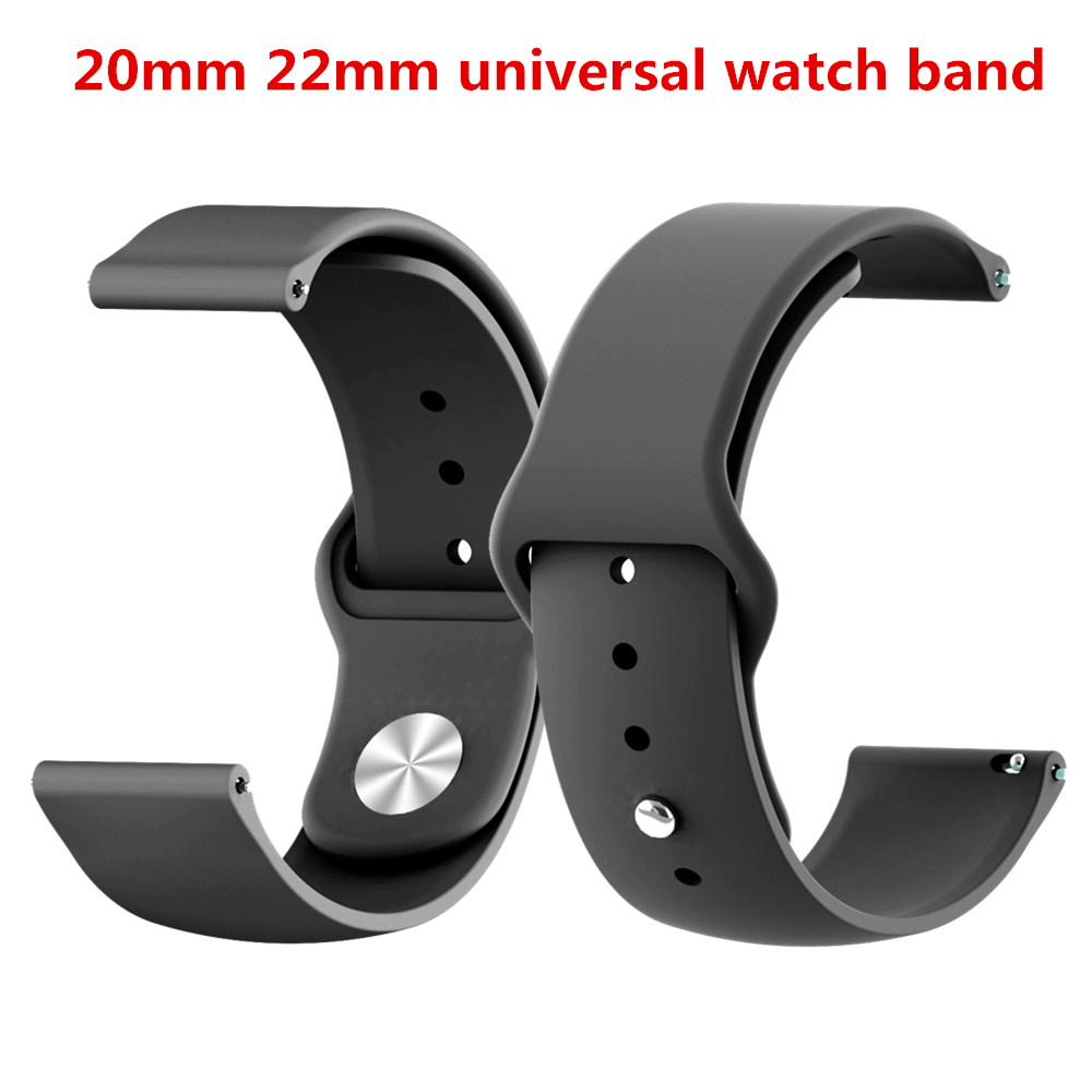 20 22mm Watch Strap Silicone Band For Garmin Forerunner 245/245M For Xiaomi Huami <font><b>Amazfit</b></font> Bip <font><b>Bit</b></font>/Pace 1/Stratos <font><b>2</b></font> For Huawei GT image