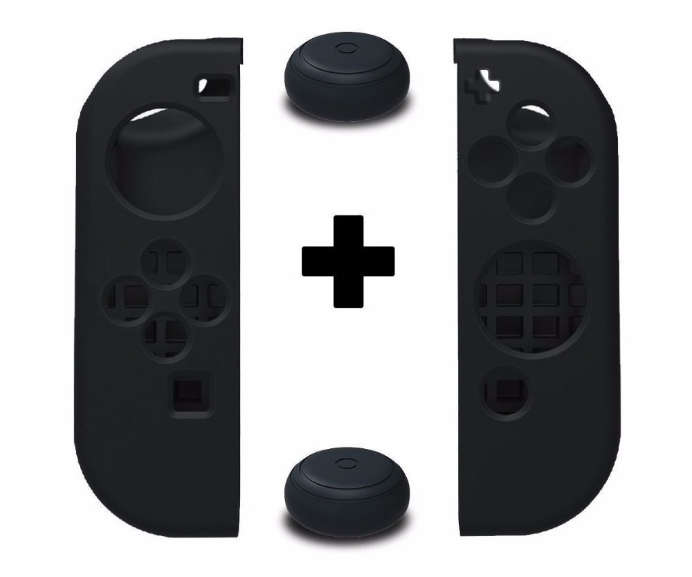 YTTL Soft Anti-slip Silicone Cover Skins Caps Grip Gamepad For Joy-Con Controller - Compatible For Nintendo Switch NS Joystick