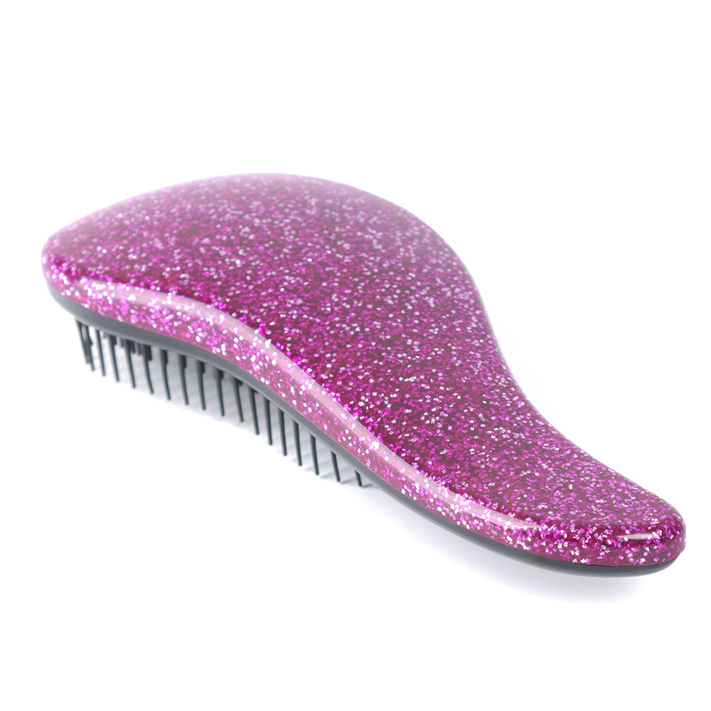 Glitter Magic Handle Tangle Detangling plastic Comb Shower Hair Brush detangler Salon women Styling hairbrush drop shipping