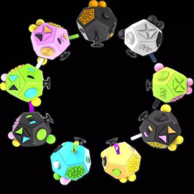 12 Lado Fidget Geração Cubo Mágico 2 Brinquedo Forma Estranha Magia Cubes puzzles mesa de vinil brinquedos Descompressão engraçado presente criativo