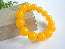 Bracelet+++407 The old men and women natural beeswax Bracelet single ring yellow honey chicken oil(China)