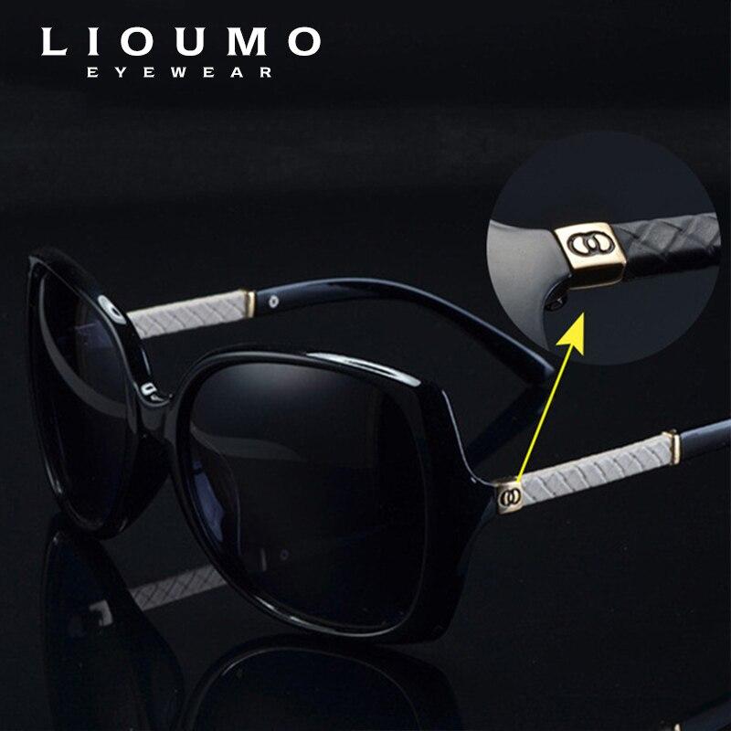 c3175b551f LIOUMO marque de luxe femmes polarisées UV400 lunettes de soleil pour femmes  vintage verre femme Original célèbre lunettes de soleil avec logo C 9110  dans ...